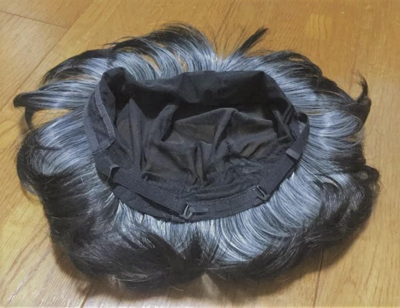 髪付き帽子内側
